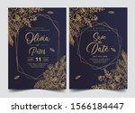 wedding invitation card... | Shutterstock .eps vector #1566184447