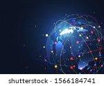 global network connection.... | Shutterstock .eps vector #1566184741