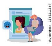 profile page website design ... | Shutterstock .eps vector #1566211864
