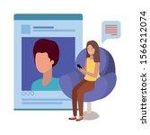 profile page website design ... | Shutterstock .eps vector #1566212074