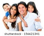 happy family portrait smiling...   Shutterstock . vector #156621341