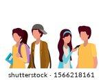 couples of students design ...   Shutterstock .eps vector #1566218161