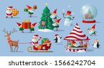 colorful festive collection of... | Shutterstock .eps vector #1566242704