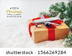 christmas background with... | Shutterstock . vector #1566269284