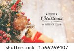 christmas background greeting... | Shutterstock . vector #1566269407