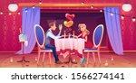 couple romantic dinner in...   Shutterstock .eps vector #1566274141