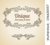 vector vintage baroque...   Shutterstock .eps vector #156630557