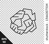 black line crumpled paper ball... | Shutterstock .eps vector #1566307534