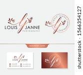 initial lj feminine logo... | Shutterstock .eps vector #1566354127