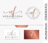 initial nf feminine logo design ... | Shutterstock .eps vector #1566361411