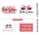 feminine logo collections... | Shutterstock .eps vector #1566374587