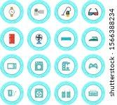 16 icon set of electronic...