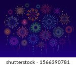 vector set of colorful... | Shutterstock .eps vector #1566390781