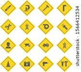 16 construction icons sheet... | Shutterstock .eps vector #1566412534