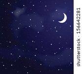 vector illustration of night... | Shutterstock .eps vector #156642281