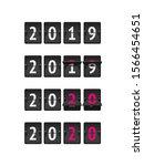 countdown flip timer 2019 to...   Shutterstock .eps vector #1566454651