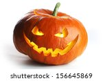 Halloween Pumpkin Isolated On...