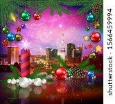 celebration illustration with... | Shutterstock . vector #1566459994