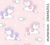 Cute Unicorn Seamless Pattern....