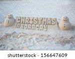 Christmas sand castle on Boracay, Philippines - stock photo