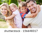 portrait of happy family in... | Shutterstock . vector #156648317