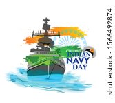 indian navy day in india is... | Shutterstock .eps vector #1566492874