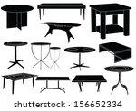 tables | Shutterstock .eps vector #156652334