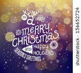 christmas greeting card. merry... | Shutterstock .eps vector #156652724