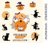 halloween icons set. vector...   Shutterstock .eps vector #1566561001