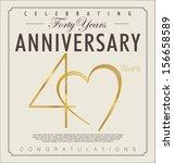 40 years anniversary retro... | Shutterstock .eps vector #156658589