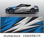sport car decal wrap design... | Shutterstock .eps vector #1566598174