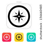 wind rose icon. vector...