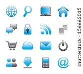 internet icons over white... | Shutterstock .eps vector #156662015