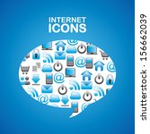 internet icons over blue...   Shutterstock .eps vector #156662039
