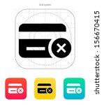 credit card denied icon. vector ...