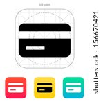 magnetic tape credit card icon. ...