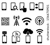 cell phone  wireless  mobile...   Shutterstock .eps vector #156670901