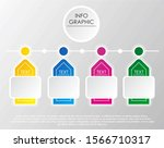 infographic template four... | Shutterstock .eps vector #1566710317