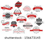 retro banners and labels for... | Shutterstock .eps vector #156673145