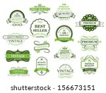 green labels and banners in... | Shutterstock .eps vector #156673151