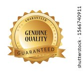 genuine quality award golden... | Shutterstock .eps vector #1566740911