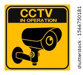 cctv camera. black video... | Shutterstock .eps vector #1566750181
