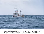 Fishing Boat In The Open Cold...