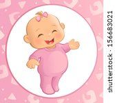 baby girl  vector  | Shutterstock .eps vector #156683021