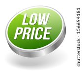 green silver low price button | Shutterstock .eps vector #156694181