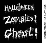 happy halloween theme and... | Shutterstock .eps vector #156694355