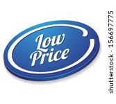 blue oval low price button   Shutterstock .eps vector #156697775