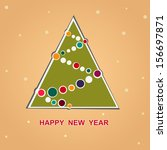 happy new year card with a... | Shutterstock .eps vector #156697871
