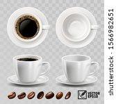 3d realistic vector cup of... | Shutterstock .eps vector #1566982651
