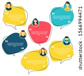 testimonial speech bubble... | Shutterstock .eps vector #1566994471
